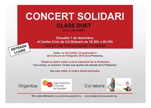 Cartel concierto solidari 2012