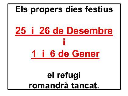 Horaris festius